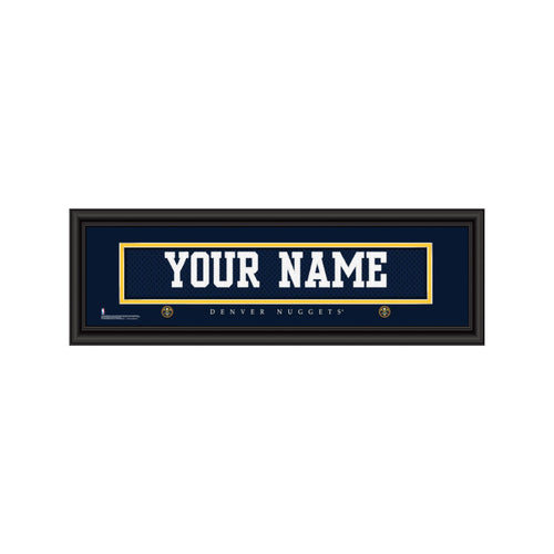 Customizable Framed Denver Nuggets Jersey Stitch Print