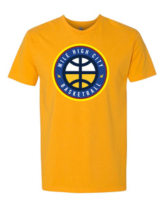 Men's Nuggets Mile High City Tee - Gold