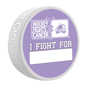 Avalanche Hockey Fights Cancer Puck