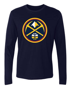 Nuggets L/S Primary Logo Tee - Navy