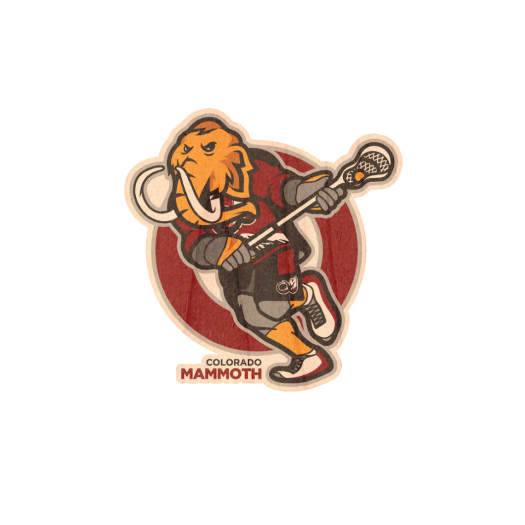 Mammoth Wooly Wood Sticker