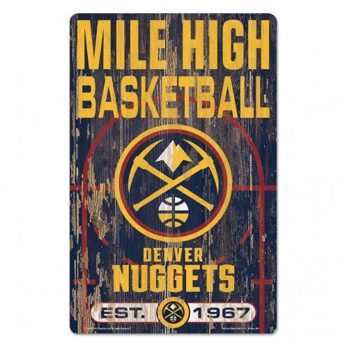 2019-20 Denver Nuggets Mile High Basketball Sign