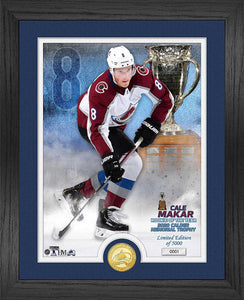 Colorado Avalanche #8 Cale Makar Calder Memorial Trophy Plaque