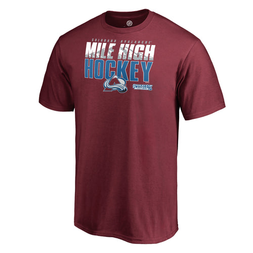 Avalanche Stanley Cup Playoff Men's Mile High Hockey Tee