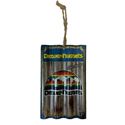 Denver Nuggets Metal Sign Ornament