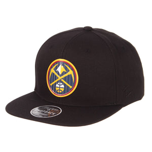 Nuggets Primary Badge Snapback - Black