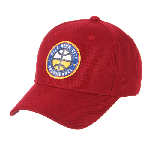 Nuggets Mile High Basketball Badge Competitor Hat - Cardinal