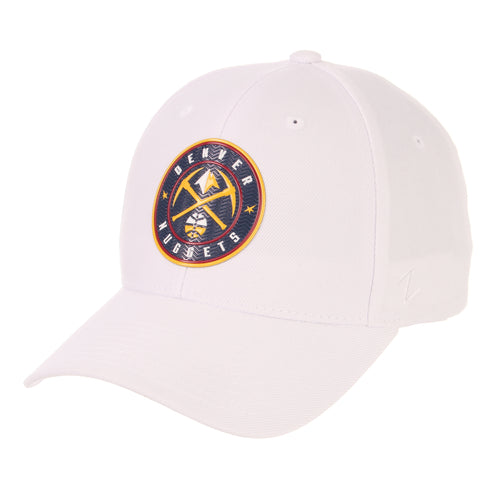 Nuggets Global Badge Competitor Hat - White