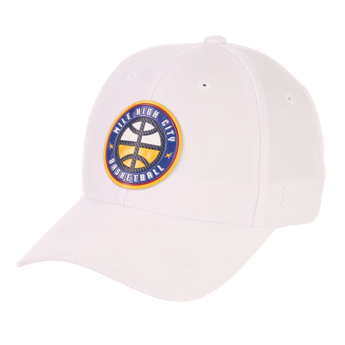 Nuggets Mile High Basketball Badge Competitor Hat - White