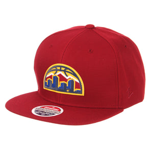 Nuggets Skyline Badge Snapback - Cardinal