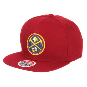 Nuggets Primary Badge Snapback - Cardinal