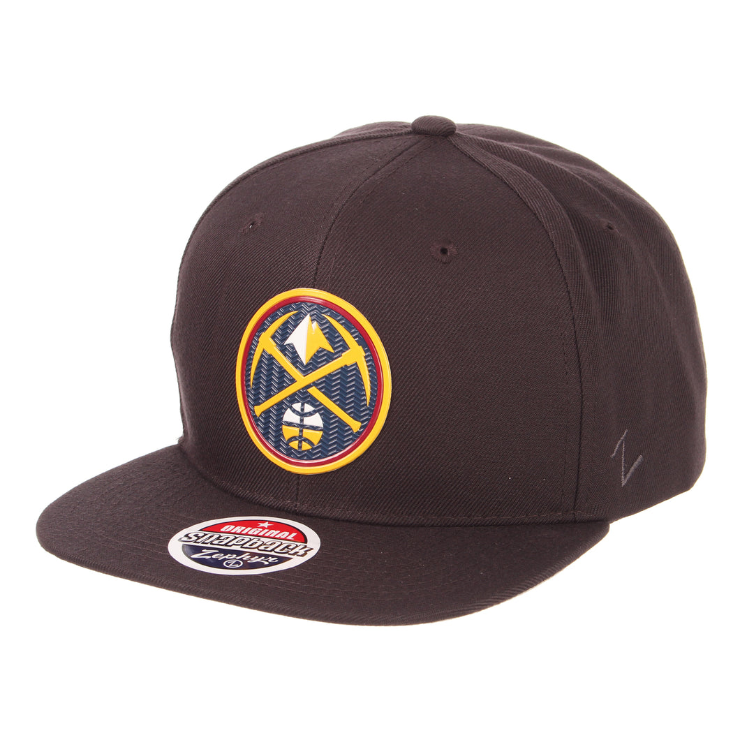 Nuggets Primary Badge Snapback - Charcoal