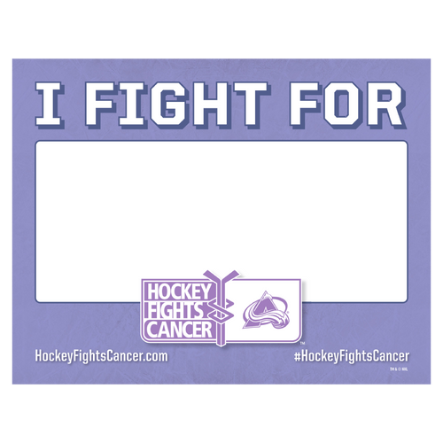 I Fight For Avalanche Hockey Fights Sign