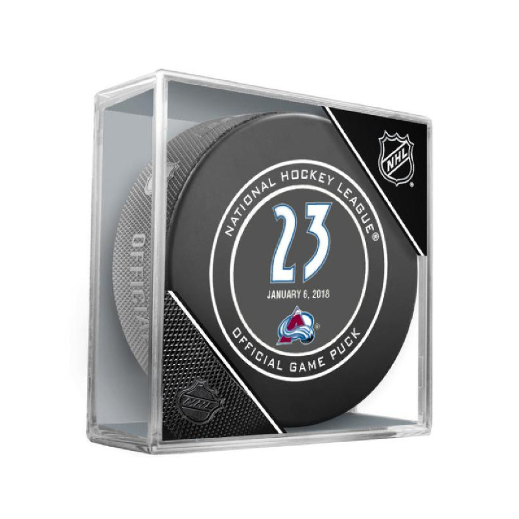 Milan Hejduk  Retirement Night Official Game Puck