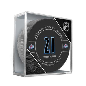Peter Forsberg Retirement Night Official Game Puck