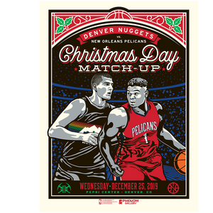 Nuggets Christmas Day Phenom Print