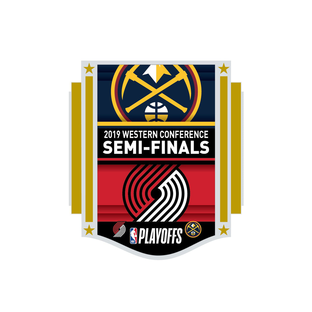 Nuggets Two Team Playoff Round 2 Lapel Pin