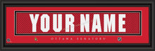 Customizable Framed NHL Team Jersey Stitch Print