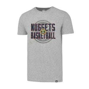 Nuggets Stacked Primary Grey Tee