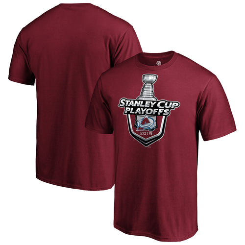 Avalanche Stanley Cup Playoff Lock Up Logo Tee
