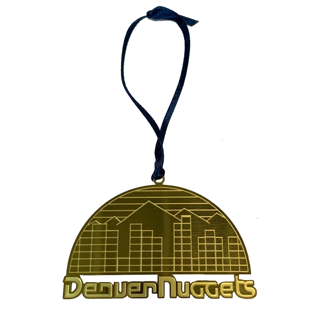 Denver Nuggets Skyline Ornament
