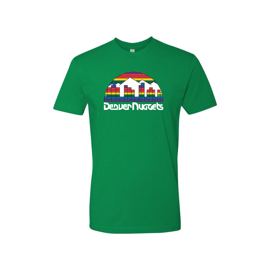 Nuggets Retro Skyline Logo Tee - Green