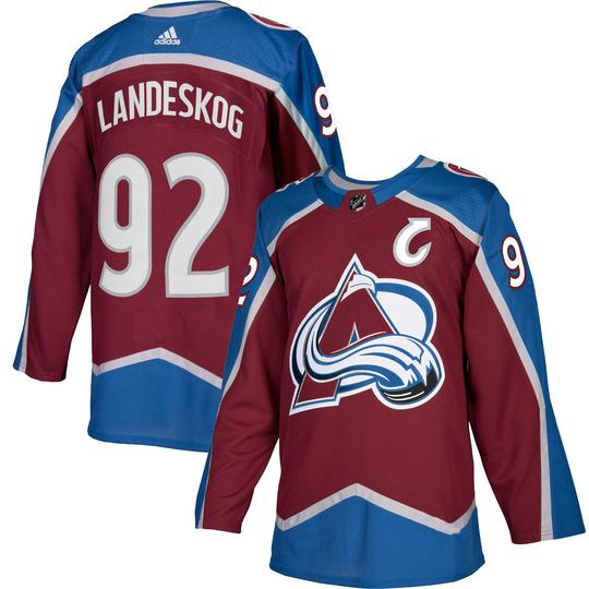 Avalanche Authentic Burgundy Home Jerseys