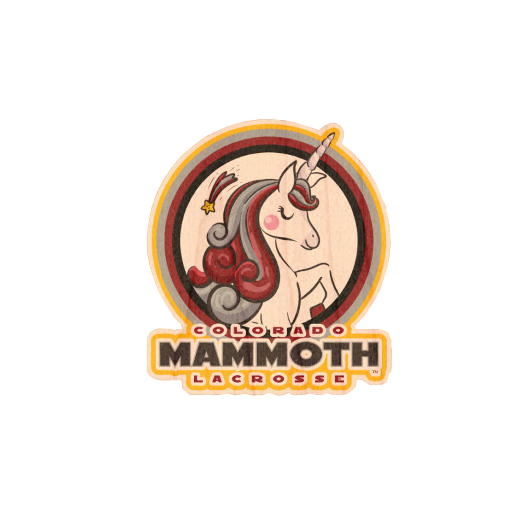 Mammoth Unicorn Wood Sticker