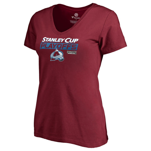 Avalanche Stanley Cup Playoff Women's Mile High Hockey Tee