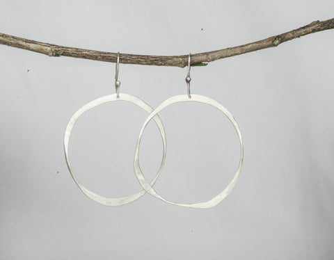 "Hammered Hoops (2"")"