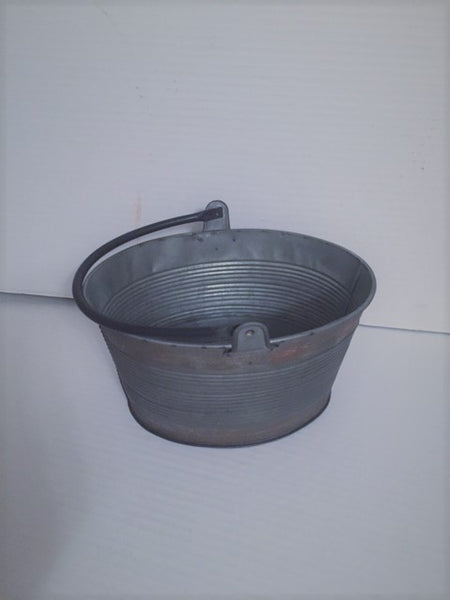 Oval Galvanized Bucket-(Large)