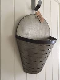 Olive Wall Basket-(Large)