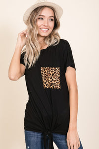 Tied Animal Pocket Tee