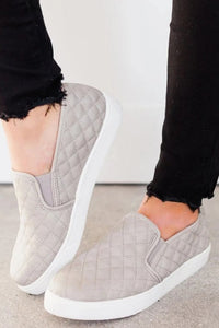 Quilted Slip On Sneaker - Grey