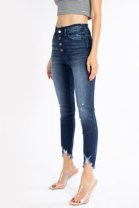 Frayed Button Fly Skinny