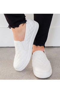 Quilted Slip On Sneaker - White