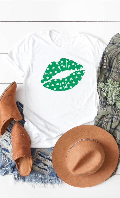 Shamrock Lips Graphic Tee (S-XL)