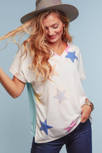 Star Drop V-Neck Tee