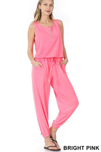 Sleeveless Jogger Jumpsuit (2 Colors)