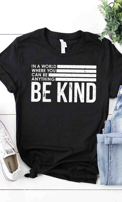 Retro Be Kind Graphic Tee (S-3XL)