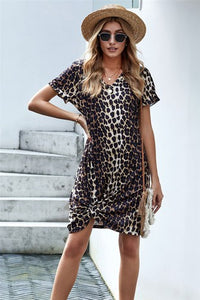 Leopard T-Shirt Dress (S-2XL)