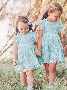Girls Lace Dress (4 Colors)