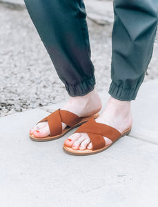 Laney Sandals in Cognac