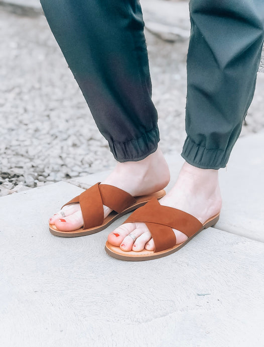 Laney Sandals in Cognac - Size 6