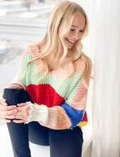 Commitment Frayed Sweater - Colorblock