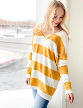 Mustard Striped Tunic Top