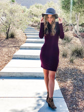 Long Sleeve Fitted Bodycon - Large