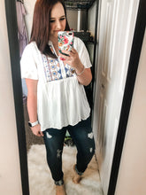 Embroidered Button Down Tunic