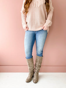Slouchy Boots in Taupe