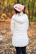 Long Line Padded Puffer Coat - Ivory